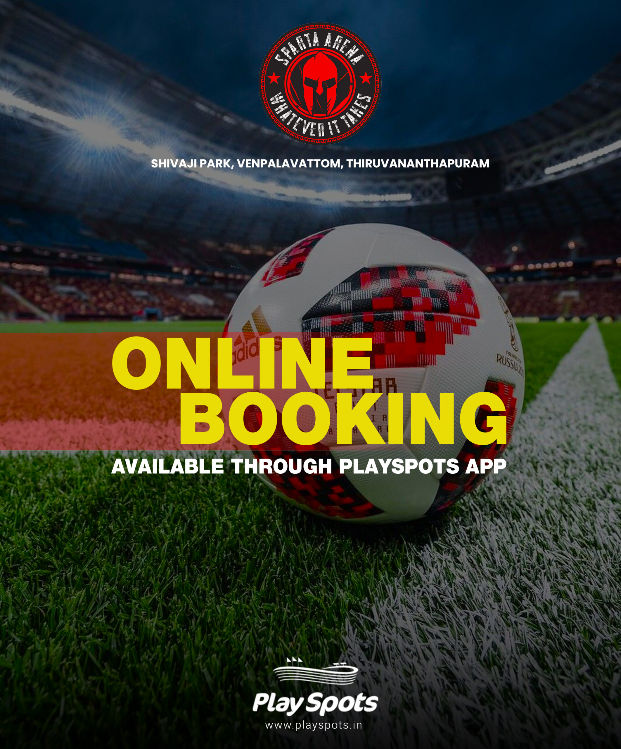 sparta online booking available through playspots   football turf booking application